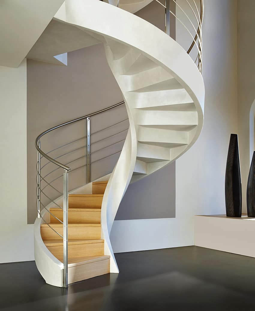 Spiral staircase in lightweight concrete by rizzi for Spiral stair