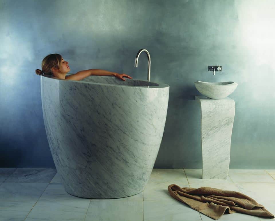 Soaking Tubs in Natural Stone by Stone Forest