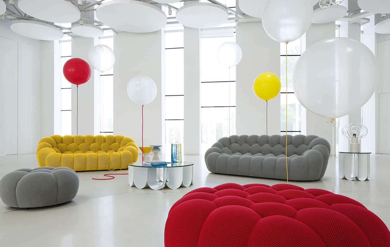 large 3 seat sofa bubble by roche bobois. Black Bedroom Furniture Sets. Home Design Ideas