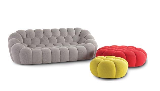 Elegant View In Gallery Roche Bobois Bubble Large 3 Seat Sofa In Techno 3d Fabric 2  Thumb 630xauto 52090 Large