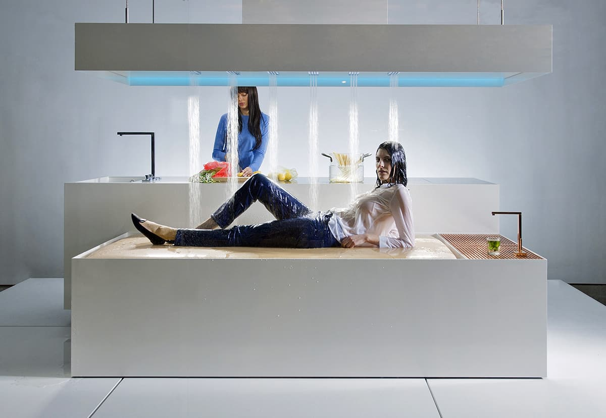 New Museum Installation Showcases Dornbracht Horizontal Shower