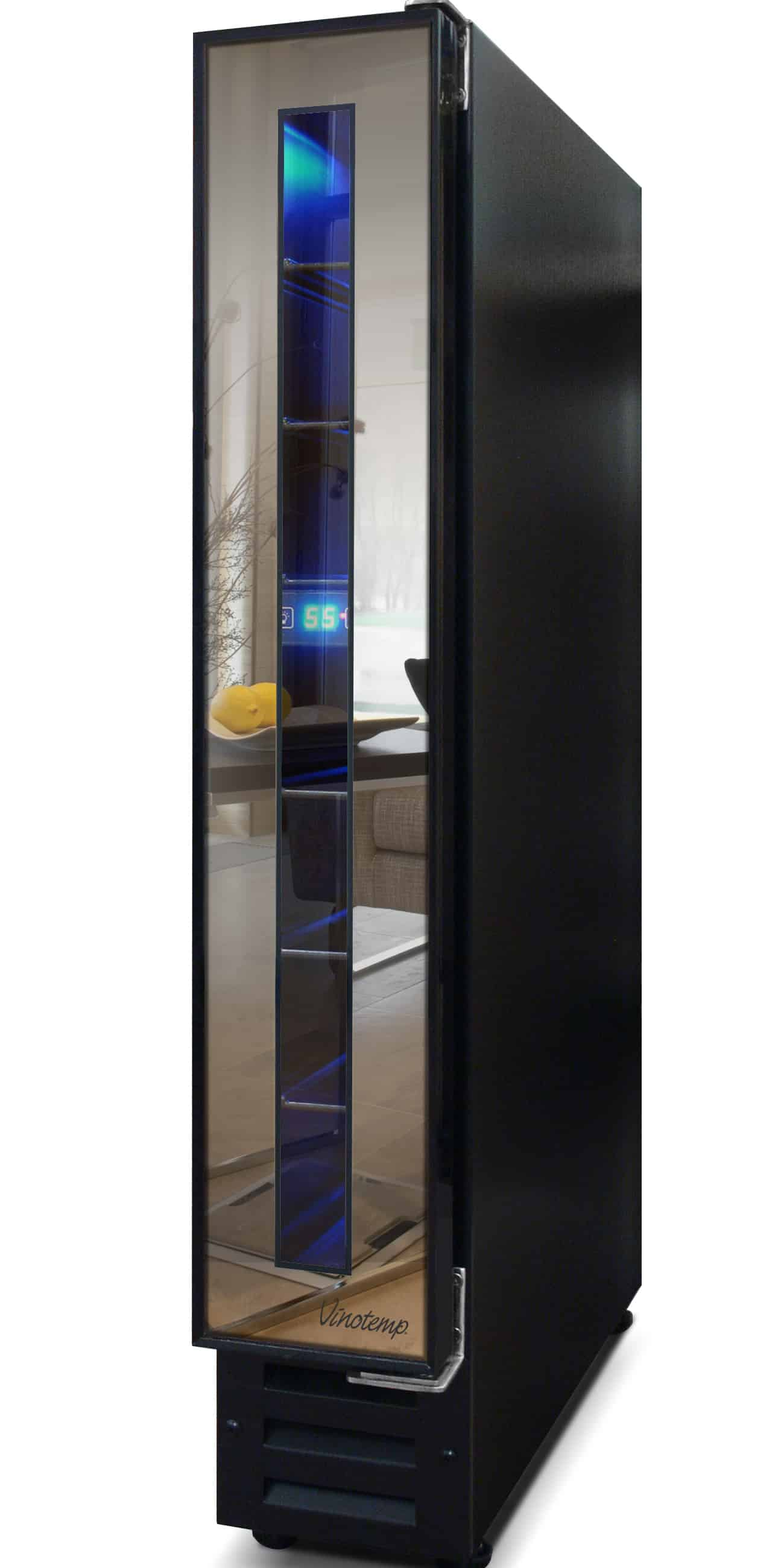Narrow Wine Cooler By Vinotemp Saves E And Looks Cool