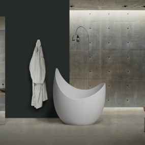 The Lunette Bathtub for Antonio Lupi is a Luxurious Escape from the Norm