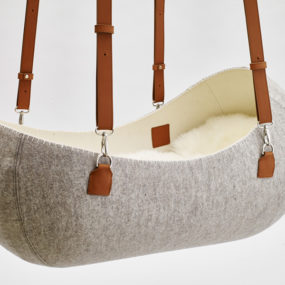 Wool Felt Cradle Makes Little Nest for Baby