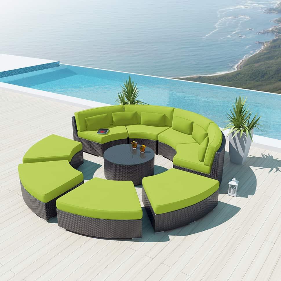9 Piece Round Outdoor Sectional Sofa Set Modavi By Uduka