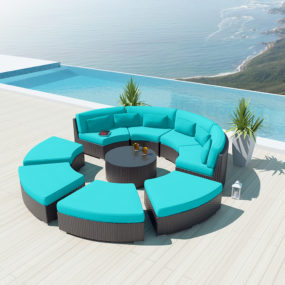 9-piece Round Outdoor Sectional Sofa Set – Modavi by Uduka