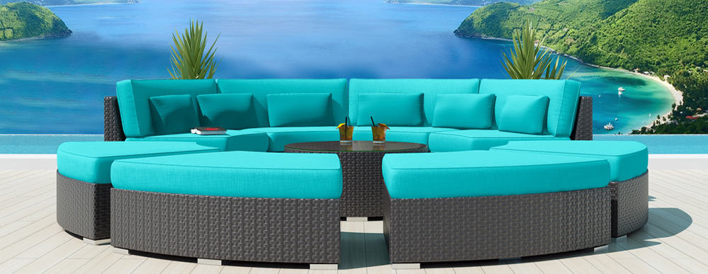 Captivating View In Gallery 9 Piece Round Outdoor Sectional Sofa Set Modavi