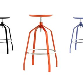 Elegant Minimalist Adjustable Height Bar Stool – Vito by Area Declic