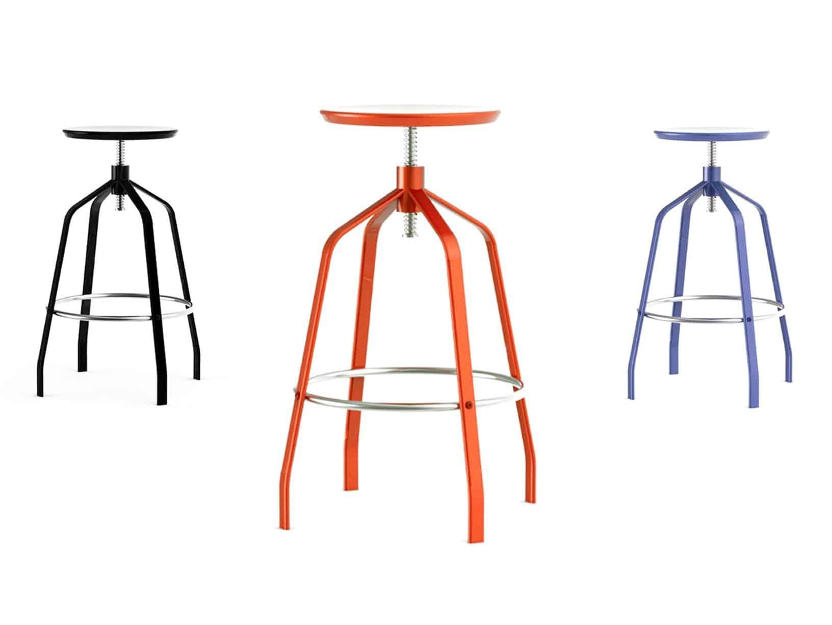 Attirant Elegant Minimalist Adjustable Height Bar Stool   Vito By Area Declic