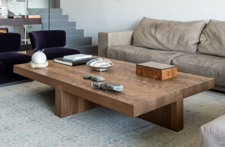 Large wooden coffee table diy idea for Large wooden coffee tables