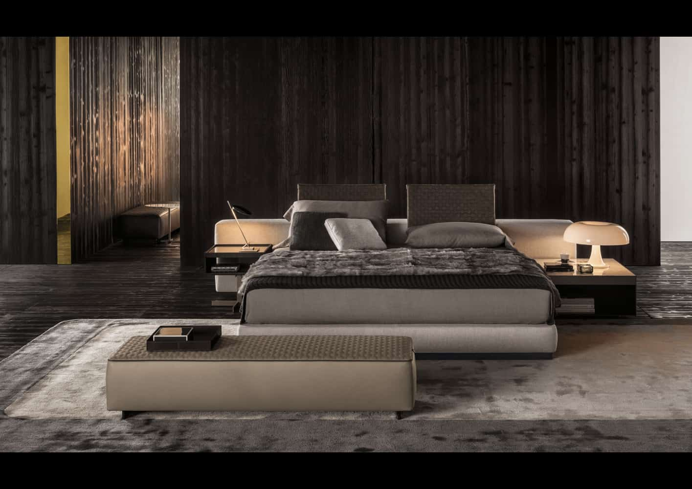 Contemporary Divan Bed Yang By Minotti