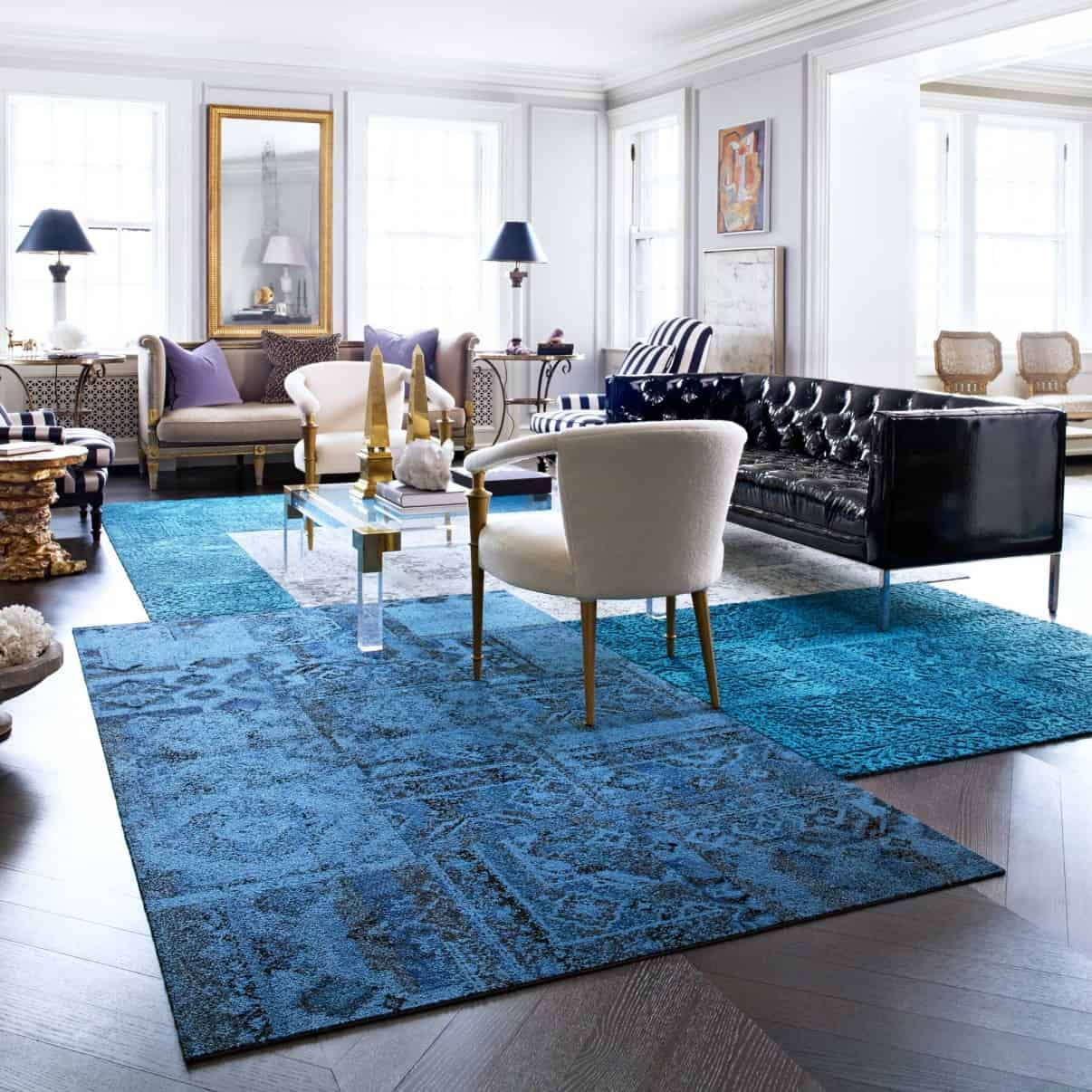 These patchwork rug squares by flor bring the room happiness view in gallery these patchwork rug squares by flor bring the dailygadgetfo Images
