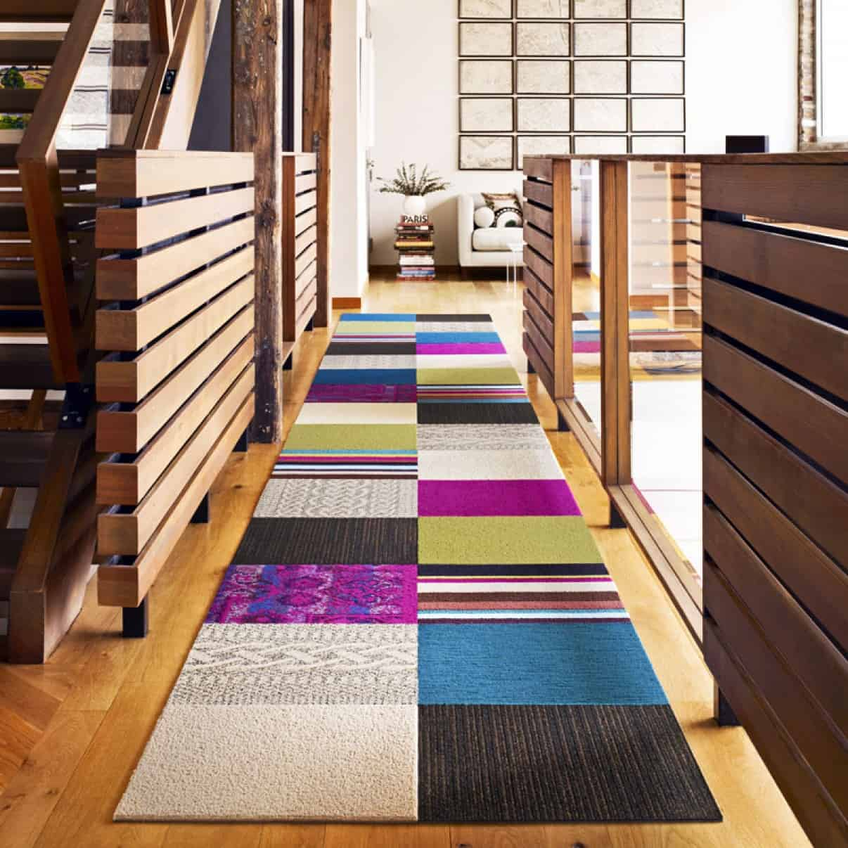 View In Gallery These Patchwork Rug Squares By Flor Bring The