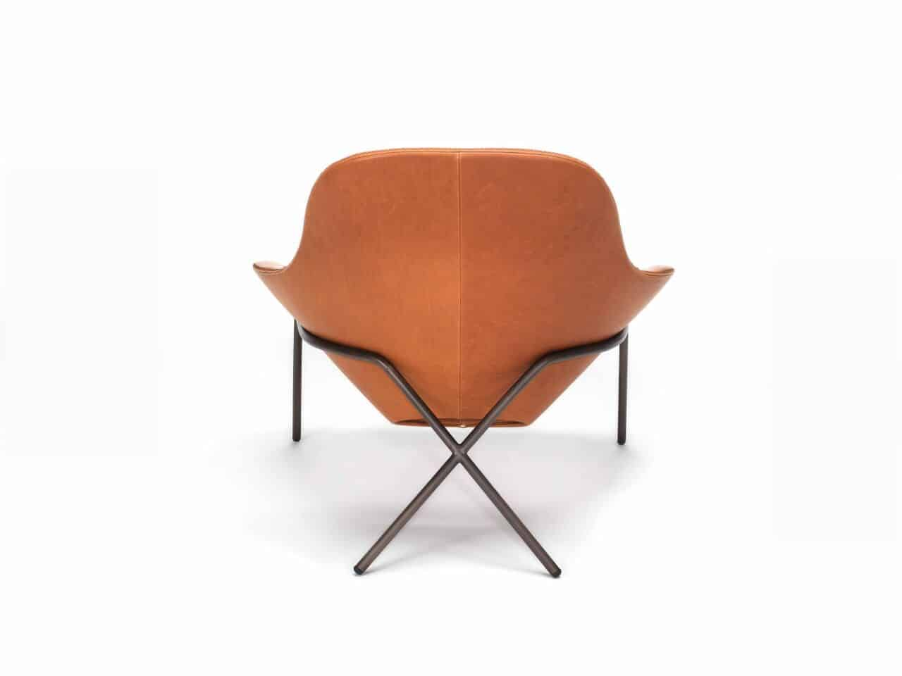 Comfortable Leather Lounge Chair - Cross Leg Chair by Magnus Long