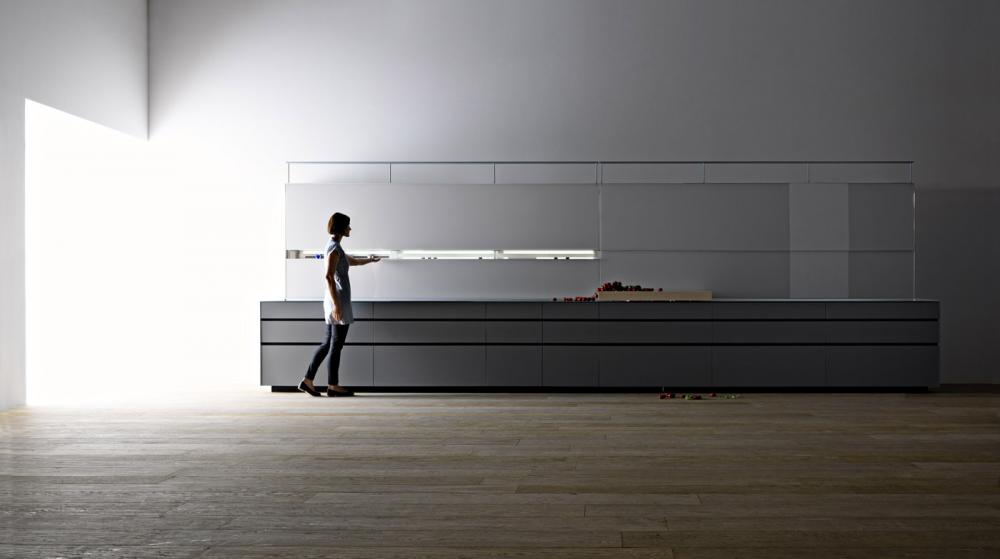 Valcucine Kitchen New Logica System Can Be Used to Divide the Space