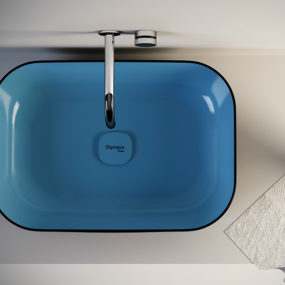 Countertop Washbasin Metamorfosi by Olympia comes in 5 colors and 5 shapes
