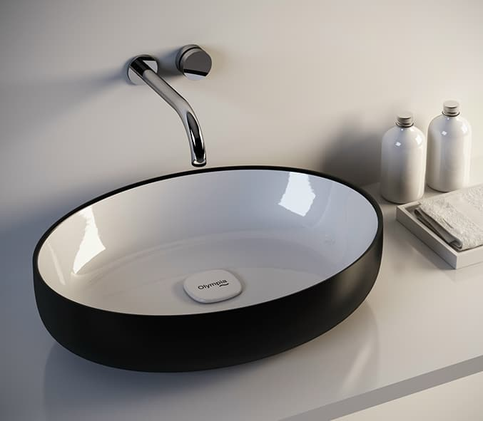 View In Gallery Countertop Washbasin Metamorfosi 4 Glossy Porcelain