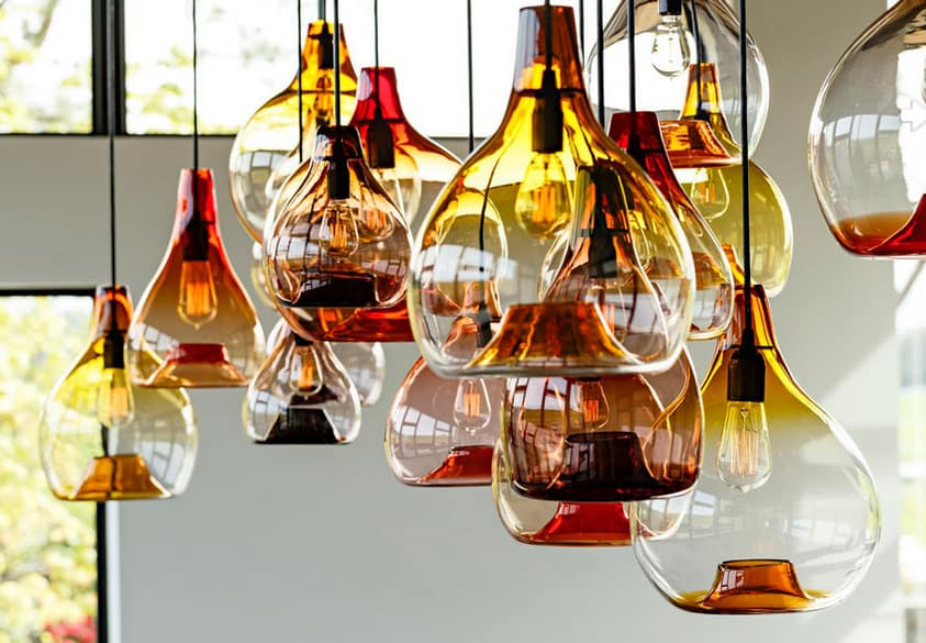 Waterdrop Pendant Light is True Art Glass Lighting