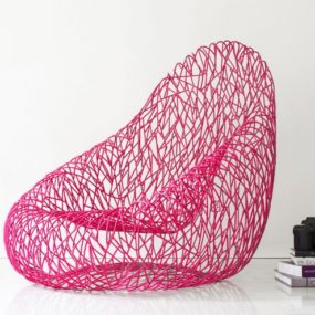 Pink Statement Chair Never Looked More Unusual