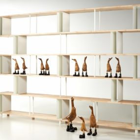 Skaffa Wood Random By Piarotto: New Modular Bookcase Promotes Open Atmosphere