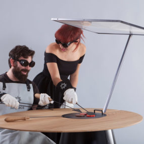 Solar BBQ Uses a Lens to Concentrate Sunlight to Cook Food