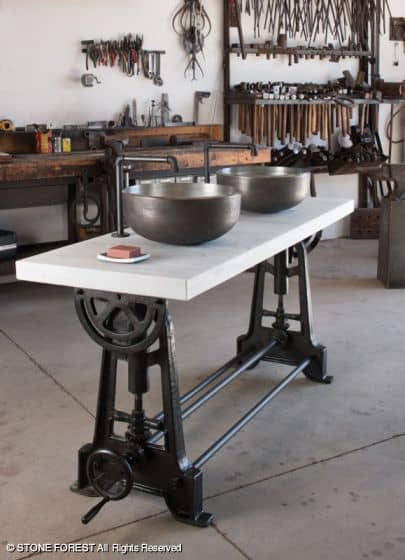 new industrial double console by stone forest 3