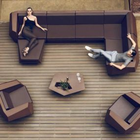 Chocolate Color Faz Furniture by Vondom Looks Spectacular