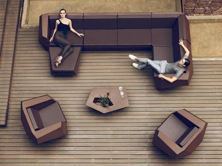 Chocolate Color Faz Furniture by Vondom Looks Spectacular