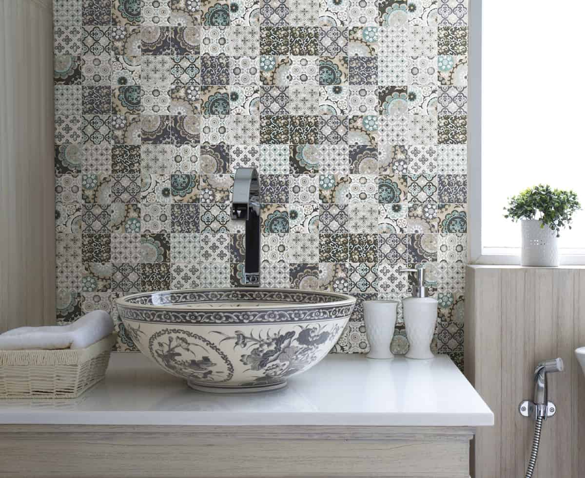 Wall Tiles For Kitchen Ideas Part - 29: View In Gallery Patchwork Backsplash Country Kitchen Artistic Tile 1 Thumb  630xauto 55228 Patchwork Backsplash For Country Style Kitchen