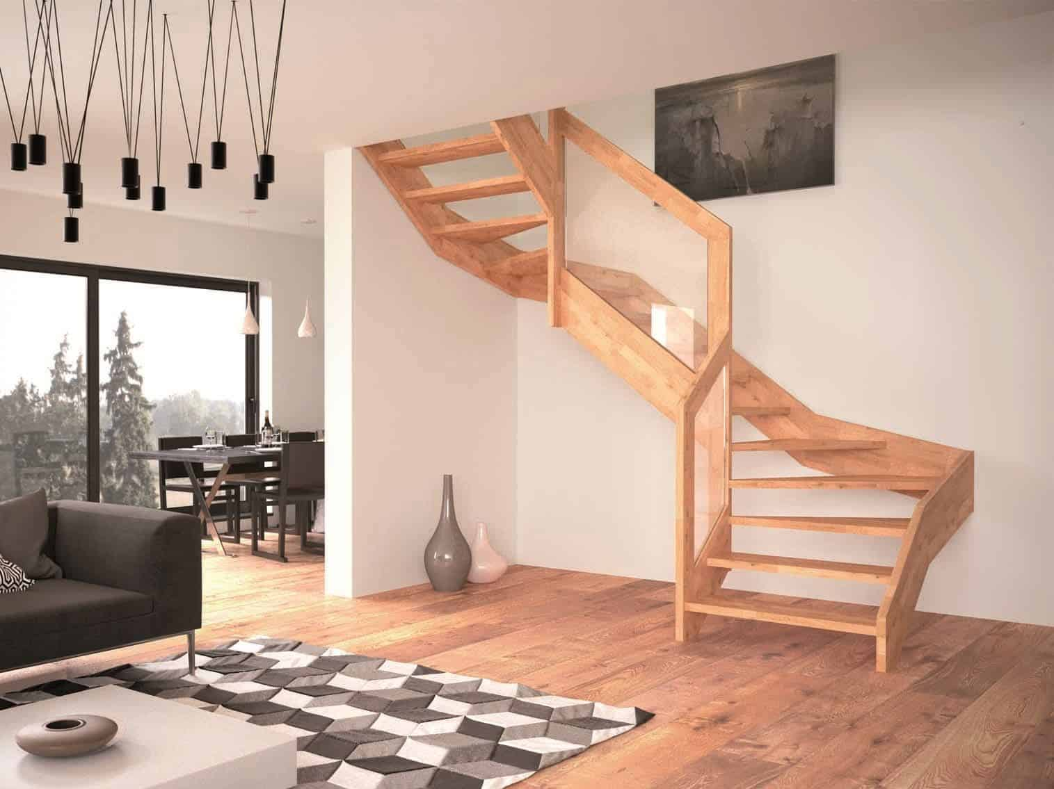 View In Gallery Contemporary Open Wooden Frame Staircases With Glass  Railing By Rintal 1 Thumb 630xauto 55506 Contemporary Open