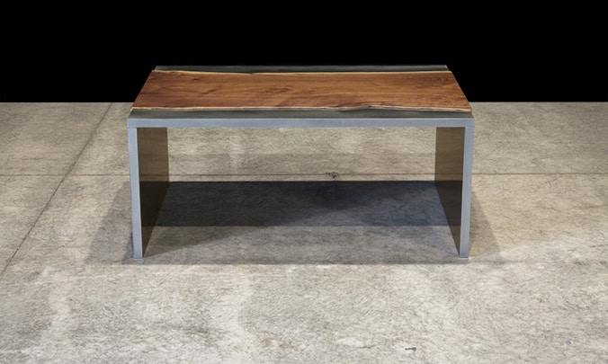 View In Gallery Steel And Wood Coffee Table By Johnhoushmand 3