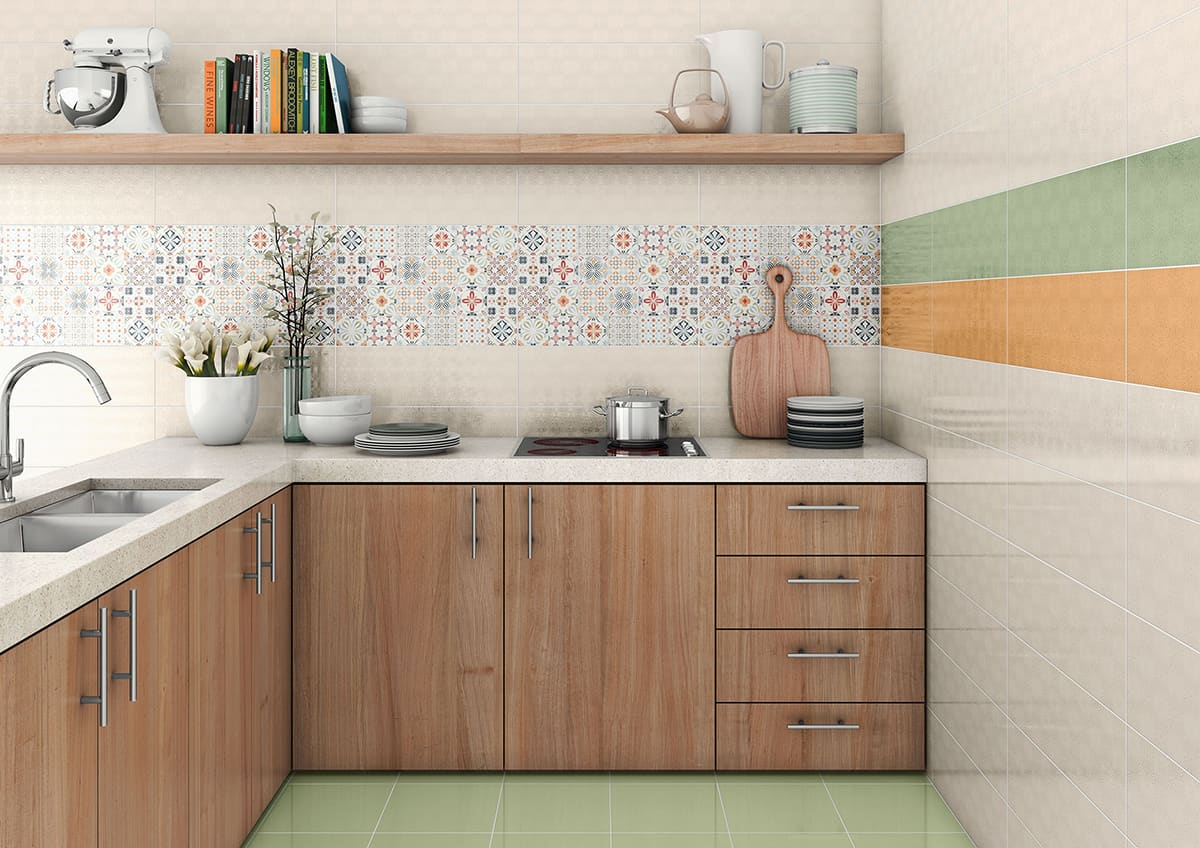 Top 15 patchwork tile backsplash designs for kitchen for Designs of tiles for kitchen