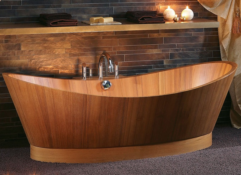 how to build a wooden bathtub