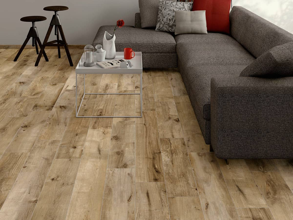 Wood look tile 17 distressed rustic modern ideas for Ceramic carrelage
