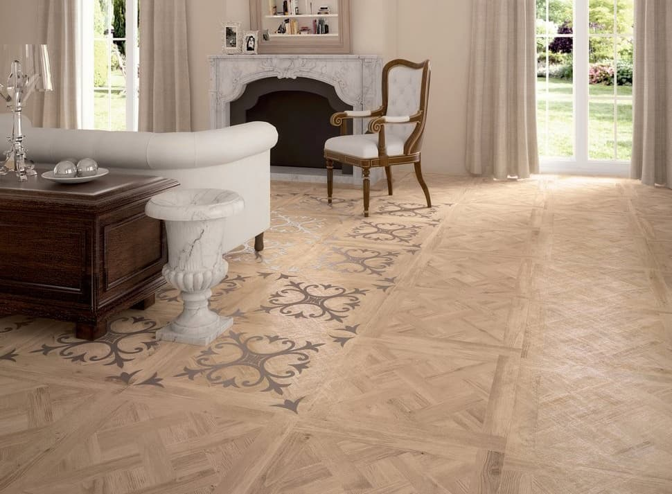 View In Gallery Ceramic Tiles That Look Like Parquet Sabbia Ariana.