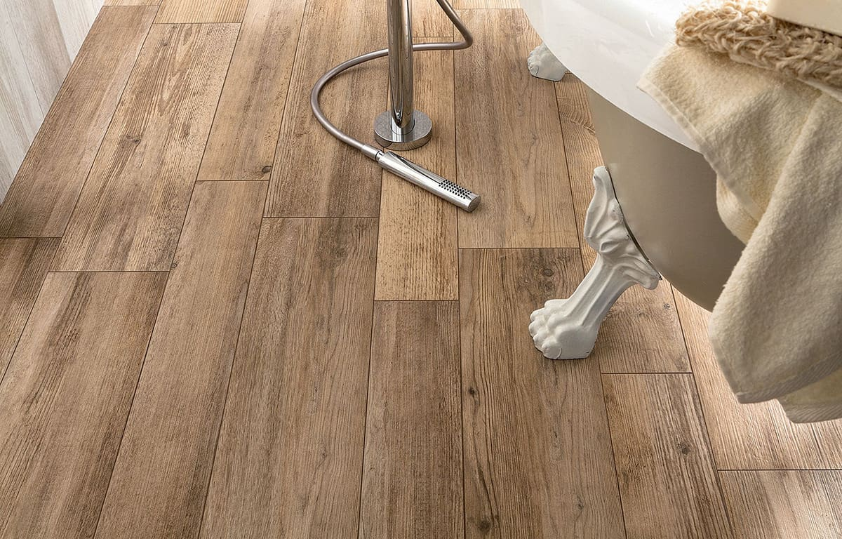 Wood look tile 17 distressed rustic modern ideas view in gallery tiles that look like hardwood planks arianag dailygadgetfo Choice Image