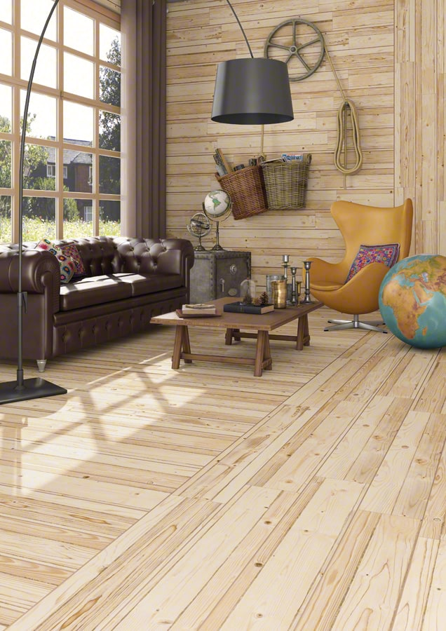 View In Gallery Wood Like Tiles Rustic Look Knotty Pine Vives.