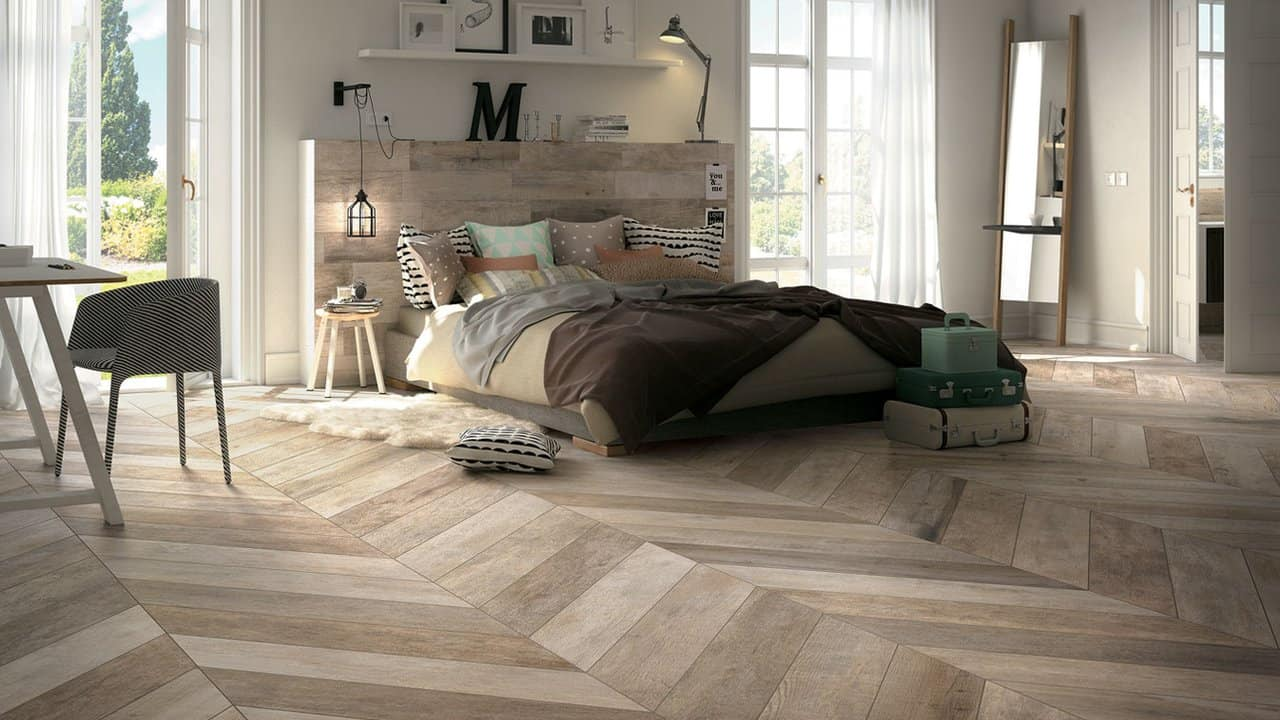 Rustic Wood Look Tile Part - 15: View In Gallery Tile-that-looks-like-rustic-wood-bedroom-mirage.