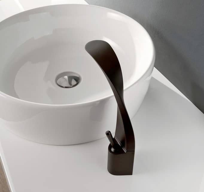View In Gallery Black Countertop Bathroom Faucet Ametis Graff