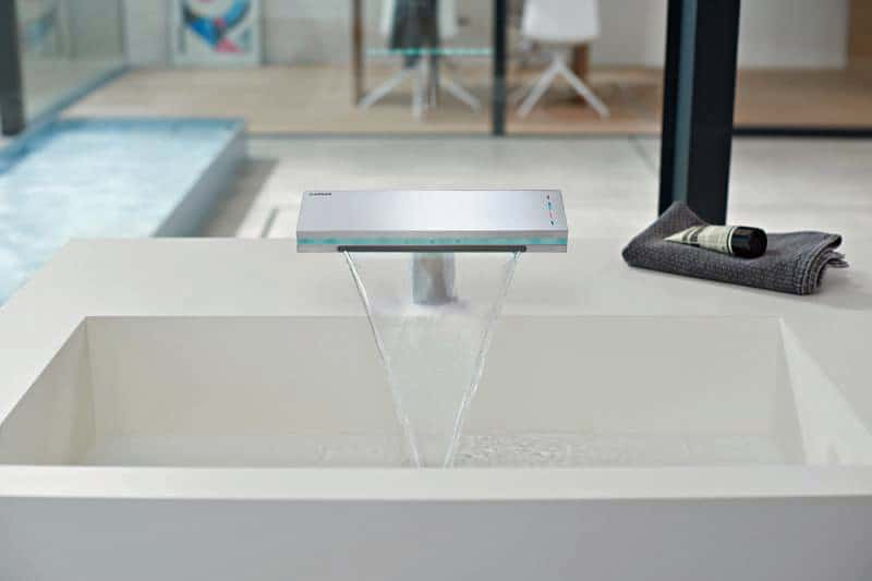 Unique View in gallery touch free bathroom waterfall faucet hansamurano x