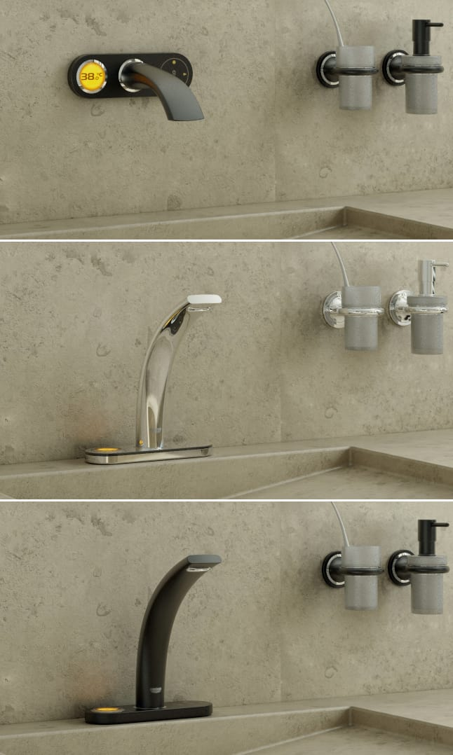 high tech bathroom faucets for digital and electronic upgrad