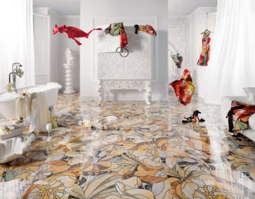 25 Beautiful Tile Flooring Ideas for Living Room, Kitchen and Bathroom Designs