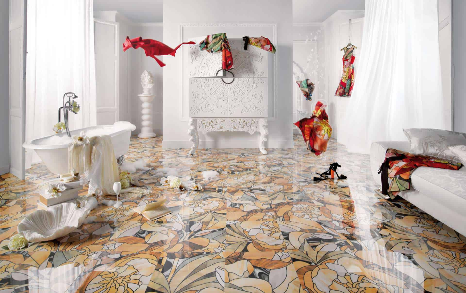 Exceptional 25 Beautiful Tile Flooring Ideas For Living Room, Kitchen And Bathroom  Designs