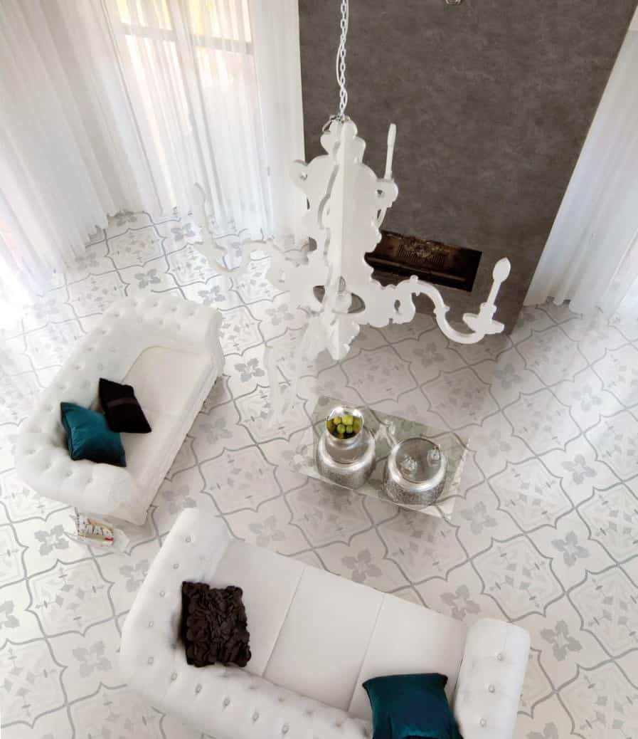 View In Gallery Porcelain Floor Tile Living Room Ceramiche Supergres
