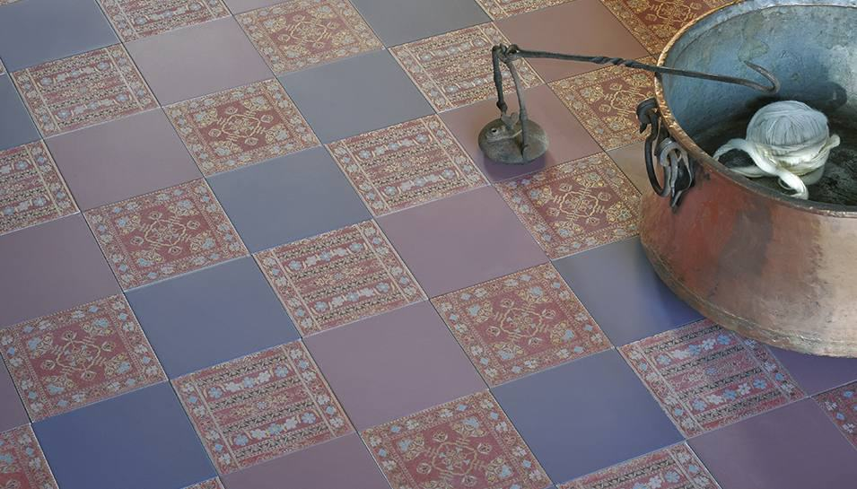 View In Gallery Vintage Floor Tile Bathroom La Sete Preziose Eco