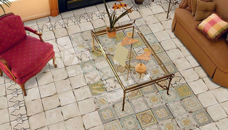 View In Gallery Vintage Floor Tile Look Le Civilta Eco Ceramica
