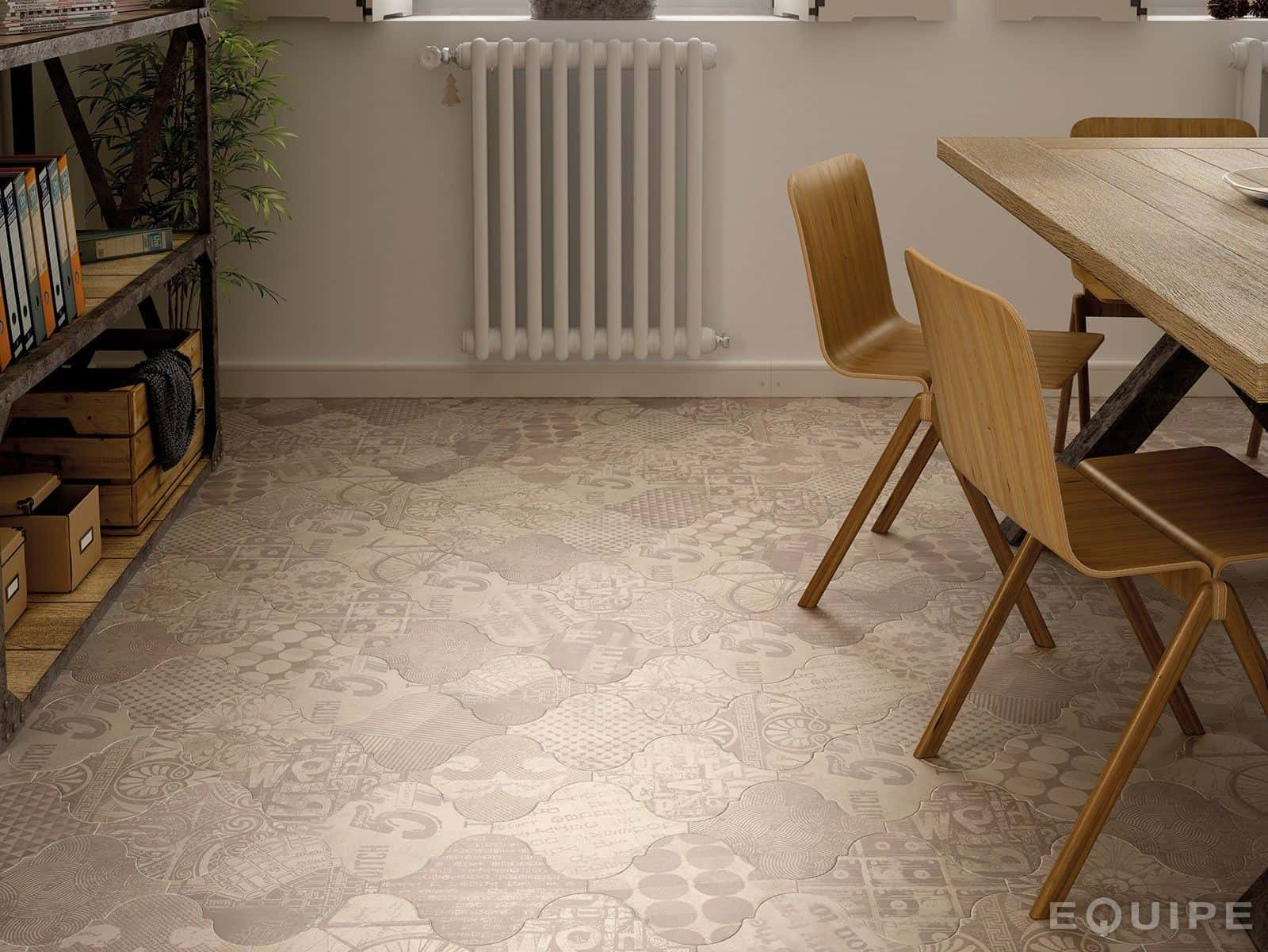 View In Gallery Arabesque Mix And Match Tile Pattern Floor Equipe