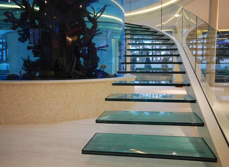 View In Gallery Unusual Unique Staircase Modern Home Aquarium 2