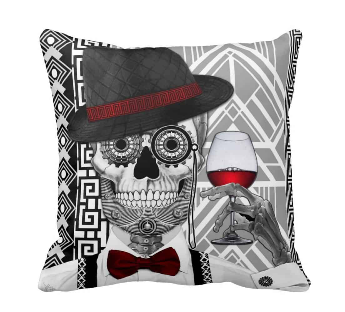 Day of the dead decor its the new halloween view in gallery day of the dead decor sugar skull pillow dailygadgetfo Choice Image