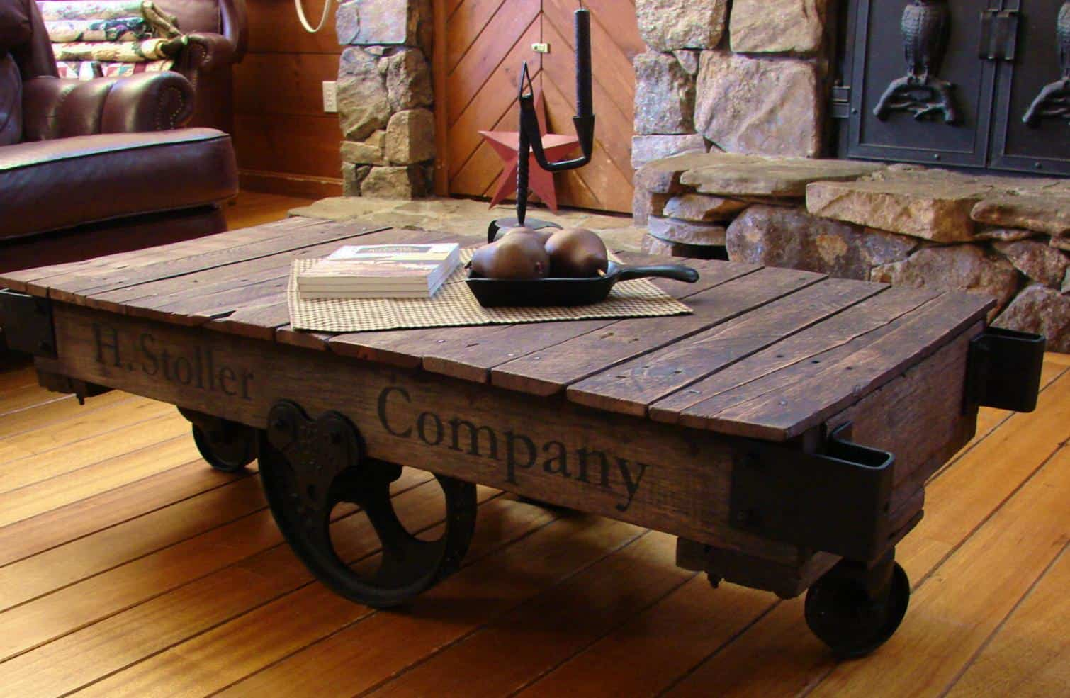 View In Gallery Sustainable Home Decor Upcycled Furniture  Factory Cart Table.